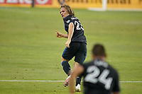 SAN JOSE, CA - SEPTEMBER 19: Florian Jungwirth #23 of the San Jose Earthquakes during a game between Portland Timbers and San Jose Earthquakes at Earthquakes Stadium on September 19, 2020 in San Jose, California.
