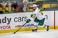 9 February 2019: University of Vermont Catamount Forward Matt Alvaro, a Junior from Toronto, Ontario, in third period action against the University of New Hampshire Wildcats at Gutterson Fieldhouse in Burlington, Vermont. The Catamounts defeated the Wildcats 4-1 to split their 2-game Hockey East weekend series. Mandatory Credit: Ed Wolfstein Photo *** RAW (NEF) Image File Available ***