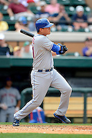 New York Mets infielder Wilmer Flores #61 during a Spring Training game against the Detroit Tigers at Joker Marchant Stadium on March 11, 2013 in Lakeland, Florida.  New York defeated Detroit 11-0.  (Mike Janes/Four Seam Images)
