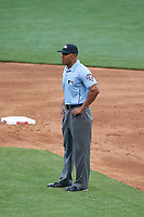 Umpire JJ January during the MLB All-Star Futures Game on July 12, 2015 at Great American Ball Park in Cincinnati, Ohio.  (Mike Janes/Four Seam Images)