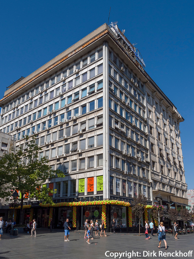 Bürohaus am Platz der Republik - Trg republike, Belgrad, Serbien, <br /> Office building at Republic square- Trg republike, Belgrade, Serbia, Europe
