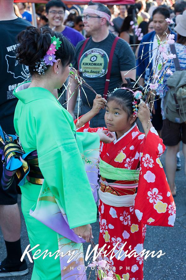 Mother & Daughter, Bon Odori Festival 2015, Seattle, WA, USA.