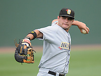 June 14, 2009: First baseman Mike Sheridan (21) of the Bowling Green Hot Rods, No. 21 prospect of the Tampa Bay Rays, in a game against the Greenville Drive at Fluor Field at the West End in Greenville, S.C. Photo by: Tom Priddy/Four Seam Images