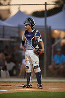 Jared Lopez during the WWBA World Championship at the Roger Dean Complex on October 19, 2018 in Jupiter, Florida.  Jared Lopez is a catcher from Cypress, Texas who attends Cypress Ranch High School and is committed to McNeese State.  (Mike Janes/Four Seam Images)