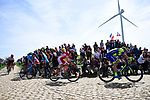 """The breakaway group over 4'35"""" ahead on one of the pave sectors during the 116th edition of Paris-Roubaix 2018. 8th April 2018.<br /> Picture: ASO/Pauline Ballet 