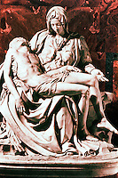 "Renaissance Art: Michelangelo--""La Pieta"". Basilica San Pietro. Masterpiece of Renaissance sculpture. Reference only."