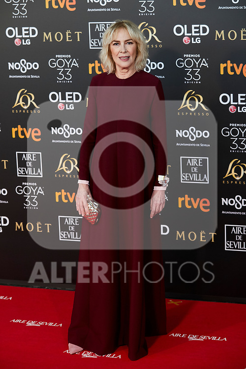 Susi Sanchez attends to 33rd Goya Awards at Fibes - Conference and Exhibition  in Seville, Spain. February 02, 2019. (ALTERPHOTOS/A. Perez Meca)