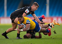 Bath Rugby's Joe Cokanasiga in action during todays match<br /> <br /> Photographer Bob Bradford/CameraSport<br /> <br /> Gallagher Premiership Semi-Final - Exeter Chiefs v Bath Rugby - Saturday 10th October 2020 - Sandy Park - Exeter<br /> <br /> World Copyright © 2020 CameraSport. All rights reserved. 43 Linden Ave. Countesthorpe. Leicester. England. LE8 5PG - Tel: +44 (0) 116 277 4147 - admin@camerasport.com - www.camerasport.com