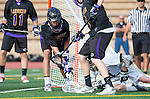 San Diego, CA 05/25/13 - John Rankin (Westview #4), Addison Sherwood (Carlsbad #21) and unidentified Carlsbad player(s) in action during the 2013 Boys Lacrosse San Diego CIF DIvision 1 Championship game.  Westview defeated Carlsbad 8-3.