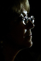 Chile's Presidential candidate Michelle Bachelet looks on during a press conference in Santiago, Chile, December, 2007...Photo by Roberto Candia