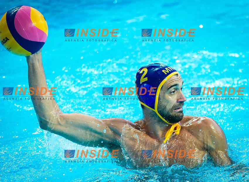 KAZ - MNE<br /> Kazakistan Vs Montenegro<br /> BRGULJAN Drasko MNE<br /> Day 10 02/08/2015<br /> XVI FINA World Championships Aquatics<br /> Waterpolo<br /> Kazan Tatarstan RUS July 24 - Aug. 9 2015 <br /> Photo Pasquale Mesiano/Deepbluemedia/Insidefoto