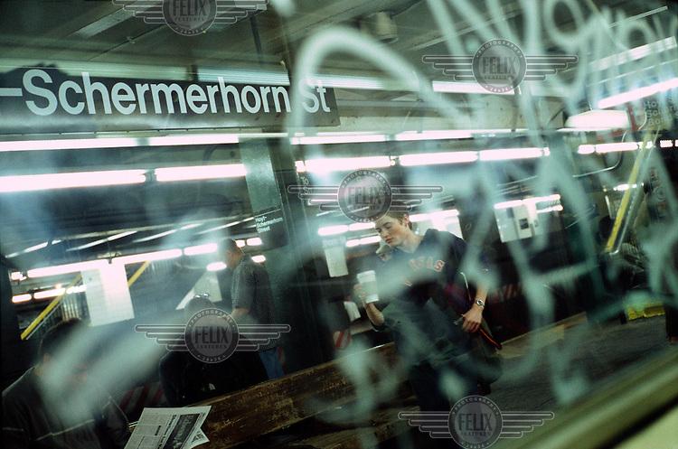 A New York subway.