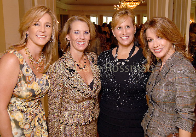 Rebecca Thibodeaux, Cheryl Gallagher, Vanessa Sendukas and Kari Parsons at the SPA Luncheon at the River Oaks Country Club Thursday Oct. 15,2009. (Dave Rossman/For the Chronicle)