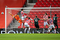 23rd December 2020; Bet365 Stadium, Stoke, Staffordshire, England; English Football League Cup Football, Carabao Cup, Stoke City versus Tottenham Hotspur; Goalkeeper Andy Lonergan of Stoke City thumps the ball clear