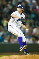 Starting pitcher Joe Serafin #9 of the Winston-Salem Dash in action against the Wilmington Blue Rocks at BB&T Ballpark on April 23, 2011 in Winston-Salem, North Carolina.   Photo by Brian Westerholt / Four Seam Images