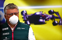 27th August 2021; Spa Francorchamps, Stavelot, Belgium: FIA F1 Grand Prix of Belgium, free practise:  F1 Grand Prix of Belgium Otmar Szafnauer ROU, Aston Martin Cognizant F1 Team, F1 Grand Prix of Belgium at Circuit de Spa-Francorchamps on August 27, 2021 in Spa-Francorchamps, Belgium. Photo by Dan Istitene/Getty Images/FIA Pool via HOCH ZWEI Spa-Francorchamps Circuit de Spa-Francorchamps Belgium Poolfoto HOCH ZWEI/Pool/Getty Images ,EDITORIAL USE ONLY