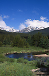 Colorado River, Kawuneeche Valley, Never Summer Mountains, Rocky Mountain National Park, Colorado, USA