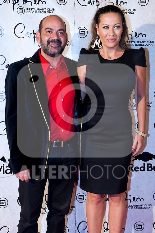 Spanish actor Jose Corbacho (left) attends the 10th anniversary celebration 'CDLC Carpe Diem: 10 years, the birthday' of CDLC Carpe Diem Lounge Club on November 8, 2013 in Barcelona, Spain. (ALTERPHOTOS/Alex Caparros)