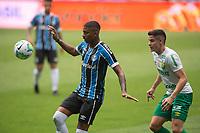 18th November 2020; Arena de Gremio, Porto Alegre, Brazil; Brazil Cup, Gremio versus Cuiaba; Jean Pyerre of Gremio holds off the challenge from Nenê Bonilha of Cuiaba