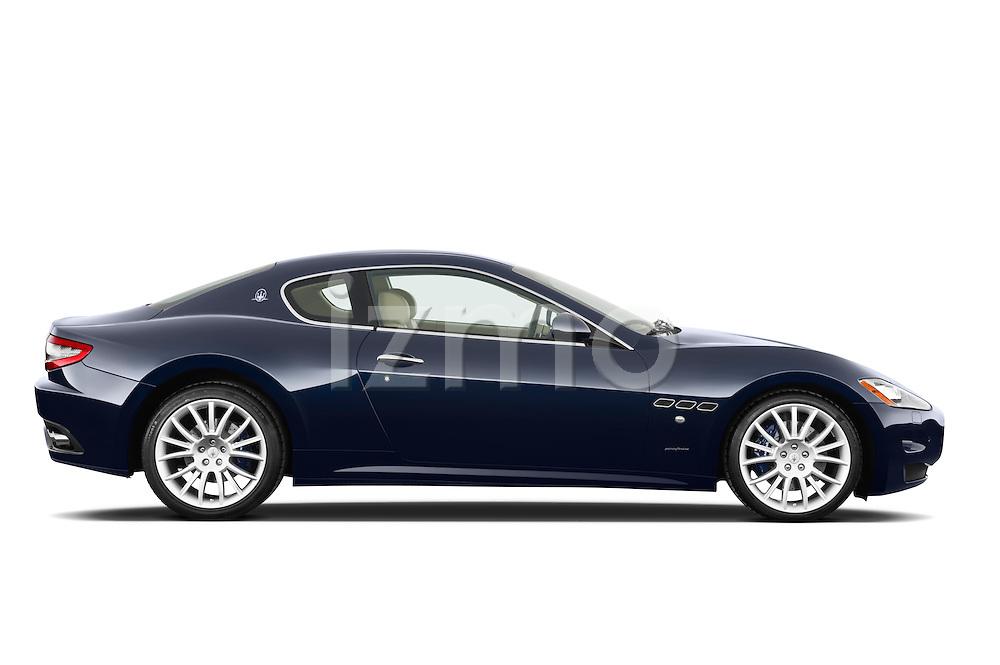 Passenger side profile view of a 2010 Maserati Granturismo S Automatic Coupe