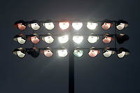 A floodlight in use for the final session of the match during Essex CCC vs Middlesex CCC, Specsavers County Championship Division 1 Cricket at The Cloudfm County Ground on 29th June 2017