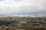 Judea, snow on the Judean Mountains, a view south from Herodion