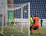 06.05.2019 Falkirk v Rangers reserves: Rhys Breen's header loops into the net