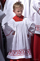 Altar boy;Pope Francis during of a weekly general audience at St Peter's square in Vatican.April 25, 2018