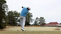 PINEHURST, NC - MARCH 02: Ryan Burnett of the University of North Carolina tees off on the 18th hole at Pinehurst No. 2 on March 02, 2021 in Pinehurst, North Carolina.