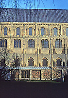 Ely: Ely Cathedral--Cloister (South Side), Nave Elevation. Photo '90.