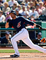 Mark DeRosa -  Cleveland Indians - 2009 spring training.Photo by:  Bill Mitchell/Four Seam Images