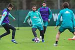 16.10.2020, Trainingsgelaende am wohninvest WESERSTADION - Platz 12, Bremen, GER, 1.FBL, Werder Bremen Abschlusstraining<br /> <br /> Jean Manuel Mbom (Werder Bremen 34)<br /> Leonardo Bittencourt  (Werder Bremen #10)<br /> Ilia Gruev (Werder Bremen #28)<br /> <br /> <br /> <br /> Foto © nordphoto / Kokenge