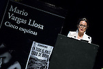 "Spanish actress Aitana Sanchez-Gijon is responsible for reading some excerpts from the new book of the Peruvian writer Mario Vargas Llosa ""Cinco Esquinas"" at CBA Madrid March 07, 2016. (ALTERPHOTOS/BorjaB.Hojas)"