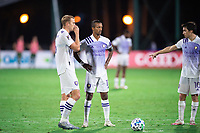 LAKE BUENA VISTA, FL - AUGUST 11: Nani #17 of Orlando City SC waits for the free kick during a game between Orlando City SC and Portland Timbers at ESPN Wide World of Sports on August 11, 2020 in Lake Buena Vista, Florida.