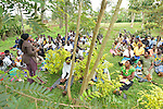 Community Health Workers  at a morning training session at Rukumo Health Center, Rwanda.....