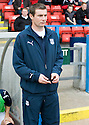 16/10/2010   Copyright  Pic : James Stewart.sct_jsp020_stirling_v_dundee  .:: BARRY SMITH TAKES HIS PLACE IN THE DUG OUT ::  .James Stewart Photography 19 Carronlea Drive, Falkirk. FK2 8DN      Vat Reg No. 607 6932 25.Telephone      : +44 (0)1324 570291 .Mobile              : +44 (0)7721 416997.E-mail  :  jim@jspa.co.uk.If you require further information then contact Jim Stewart on any of the numbers above.........