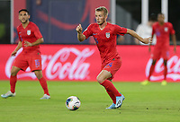 WASHINGTON, D.C. - OCTOBER 11: Jackson Yueill #14 of the United States dribbles with the ball during their Nations League game versus Cuba at Audi Field, on October 11, 2019 in Washington D.C.