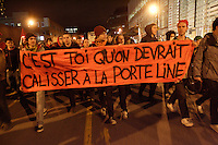 April 25, 2012 File Photo - Montreal, Quebec, CANADA - A student demonstration turn to riot.<br /><br />Through all spring and summer 2012 Quebec student took to the street to protest against the tuition hike imposed by the Liberal Government of Jean Charest.