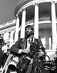 Ron Bennett White House South Lawn with camera gear, White House, South lawn,