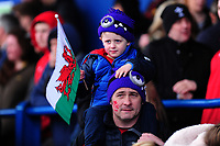 Welsh Fans during the Women's Six Nations match between Wales and Ireland at Cardiff Arms Park, Cardiff, Wales, UK. Sunday 17 March 2019