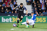 Nacho Fernandez of Real Madrid in action during their La Liga match between Deportivo Leganes and Real Madrid at the Estadio Municipal Butarque on 05 April 2017 in Madrid, Spain. Photo by Diego Gonzalez Souto / Power Sport Images