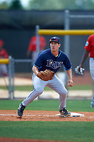 Tampa Bay Rays Kewby Meyer (84) during a minor league Spring Training game against the Boston Red Sox on March 23, 2016 at Charlotte Sports Park in Port Charlotte, Florida.  (Mike Janes/Four Seam Images)