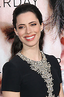 """WESTWOOD, LOS ANGELES, CA, USA - APRIL 10: Actress Rebecca Hall arrives at the Los Angeles Premiere Of Warner Bros. Pictures And Alcon Entertainment's """"Transcendence"""" held at Regency Village Theatre on April 10, 2014 in Westwood, Los Angeles, California, United States. (Photo by Xavier Collin/Celebrity Monitor)"""