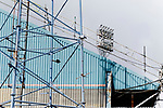 Oldham v Portsmouth League 1. Floodlight pylons at Boundary Park.