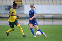 20190227 - LARNACA , CYPRUS : Finnish midfielder Nora Heroum pictured during a women's soccer game between the South African Banyana Banyana and Finland , on Wednesday 27 February 2019 at the GSZ Stadium in Larnaca , Cyprus . This is the first game in group A for both teams during the Cyprus Womens Cup 2019 , a prestigious women soccer tournament as a preparation on the Uefa Women's Euro 2021 qualification duels and the Fifa World Cup France 2019. PHOTO SPORTPIX.BE | STIJN AUDOOREN