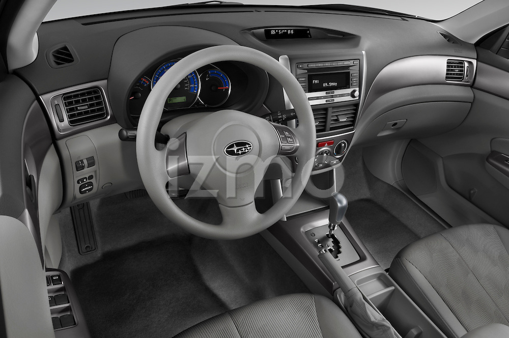 High angle dashboard view of a 2009 Subaru Forester