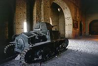 - Albania, Argirocastro, Museo Militare della Cittadella, carro armato italiano L6/40 della Seconda Guerra Mondiale<br /> <br /> - Albania, Gjirokaster, Military Museum of the Citadel, Second World War L 6/40 Italian tank