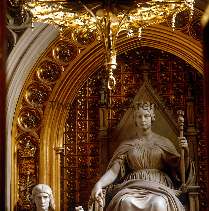 John Gibson's statue of Queen Victoria in the Prince's Chamber of the House of Lords