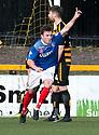 Cowdenbeath's Calum Gallagher (11) celebrates after he scores their third goal.