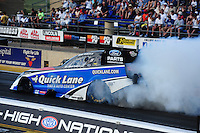 Jul. 23, 2011; Morrison, CO, USA: NHRA funny car driver Bob Tasca III during qualifying for the Mile High Nationals at Bandimere Speedway. Mandatory Credit: Mark J. Rebilas-